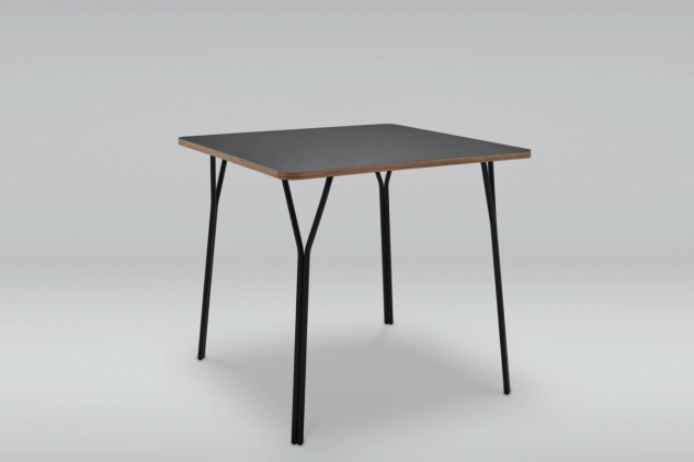 Steel base square table SHARK M