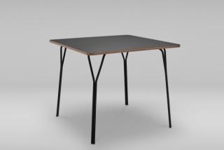 Štvorcový stôl s oceľovým podstavcom SHARK