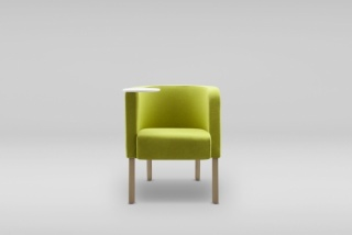 NEON 2 S armchair wooden legs - with table