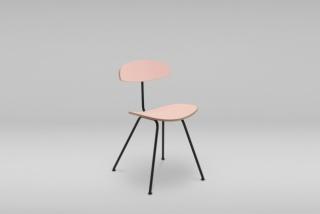 Stolička s oceľovým podstavcom ORKA