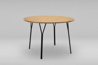 Okrúhly stôl s oceľovým podstavcom SHARK